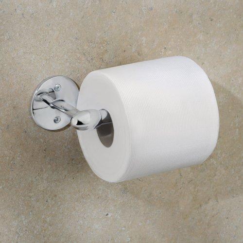 Interdesign orbinni toilet paper holder for bathroom wall mount chrome home garden - Interdesign toilet paper holder ...