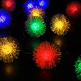 M&T TECH Outdoor String Lights Solar Powered for Patio Garden Party Wedding Christmas Waterproof with 20 Chuzzle Ball-Multi Color