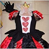 あなたが 女王様 ! ハートの女王 コスチューム ワンピース 不思議の国のアリス パーティ コスプレ 宴会芸 仮装 ハロウィン 衣装 (1  衣装)
