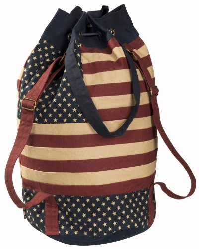 Vintage Glory Star and strip Duffel Bag one size