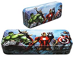 Marvel\'s Avengers Assemble Iron Man Center Tin Pencil Box