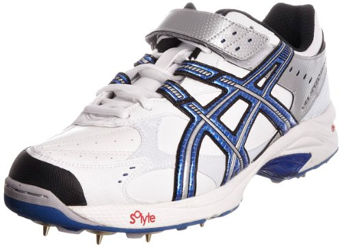 Asics Men's Gel Speed Menace White/Super Blue/Black Cricket Shoe P021Y0159 7 UK
