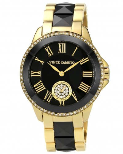 vince-camuto-womens-quartz-watch-with-black-dial-analogue-display-and-gold-ceramic-bracelet-vc-5046b