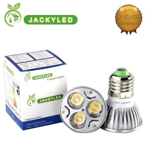 Jacky Led® 100% Original Super Bright Epistar Chips Led 3X3W 9W E26 Dimmable (E27) Warm Or Cool White Led Light Bulb, E26 Standard Household Base, Replacement For 60 Watt, 60 Degree Ul Listed (Cool White No Dimmable)