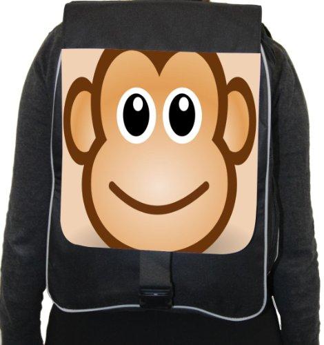 Rikki Knighttm Monkey Cartoon Face Back Pack front-636152
