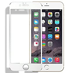 Apple Iphone 6/6s 4.7 , Tempered Glass Screen Protector (White Color), Glass Full Screen Coverage, Edge to Edge, Shatterproof, Oleophobic Coating, Hd Clarity and Anti Scratch, Bubble Free
