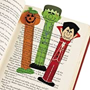 48 Vinyl HALLOWEEN Character BOOKMARKS/Party Favors/TRICK or Treat PRIZES/TOYS/Monster/Witch