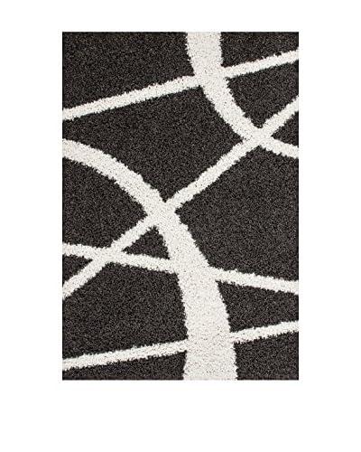 Teppich Twister 300 anthrazit/weiß 190 x 280 cm