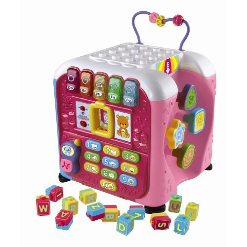 Vtech Alphabet Activity Cube Toy - Pink