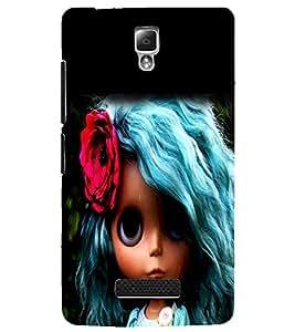 PrintDhaba Blue Hair Doll D-1045 Back Case Cover for LENOVO A2010 (Multi-Coloured)