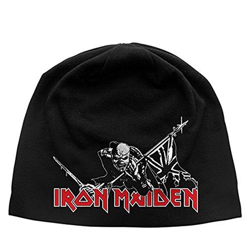 Iron Maiden The Trooper discarico Berretto/Mütze Black Etichettalia unica
