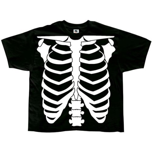Old Glory - Unisex-Baby Skeleton Glow In The Dark Costume T-Shirt - 4T Black front-971822