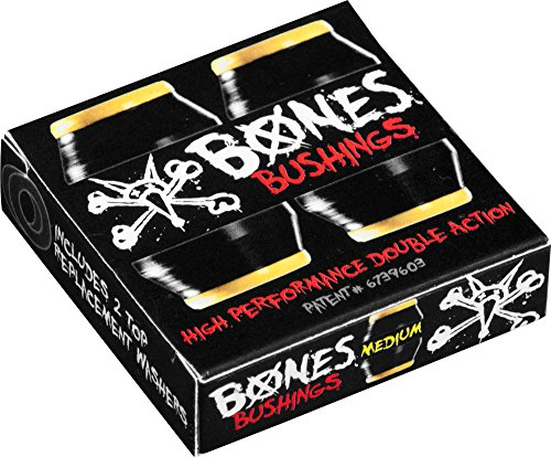 BONES WHEELS Medium Bushings (2 Set), Black (Bones Medium Bushings compare prices)