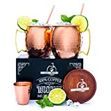 100% Authentic Copper Moscow Mule Mug Set--1/2 Lb. Each--No Nickel!