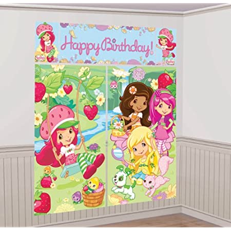Now you can decorate for your child's birthday party in minutes with this brand new, never used, scene setter. It can be used either indoors or outdoors and needs to be applied with tape, tacks or Sticky Tack. This set is not self-stick like decals.