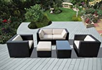 Hot Sale ohana collection PN0604 Genuine Ohana Outdoor Patio Wicker Furniture 6-Piece All Weather Gorgeous Couch Set