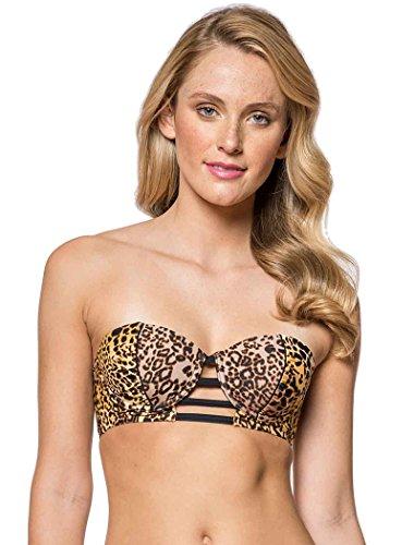 Jessica Simpson Swimwear Animal Instinct Underwire Bra Top