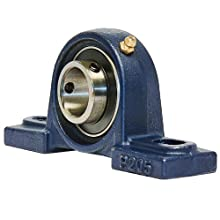 UCP205-16 Pillow Block Mounted Bearing, 2 Bolt, 1&#034; Inside Diameter, Set screw Lock, Cast Iron, Inch