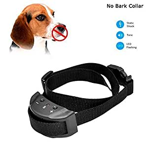 Bark Collar [ Upgrade Version] No Bark Collar Dog Small Bark Collar Shock Collar with Beep Vibration Harmless Shock Rechargeable Anti Bark Control Device for Small Medium Large Dog.