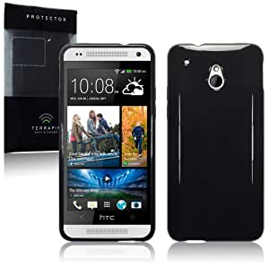 HTC One Mini TPU Gel Skin Case / Cover - Solid Black