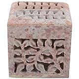 Freshings Gaurara Carved Square Shape Box (Multi-Coloured, 7.6 Cm X 7.6 Cm X 7.6 Cm)