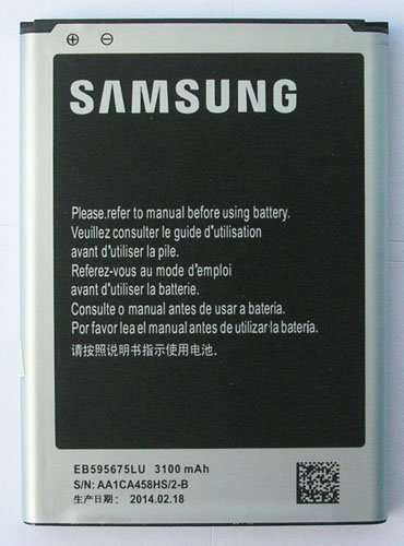 Battery For Samsung Galaxy Note 2 Ii Gt-N7100 3100 Mah Eb595675Lu Replacement Part Mobile Phone Accessory