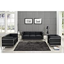Hot Sale Charles Petite 3 Piece Sofa Set in Black
