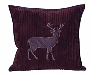 Jcpenney Outdoor Throw Pillows : Amazon.com - Scene Weaver Highland Creek Channeled Fleece Throw Pillow, 18-Inch, Deer - Leather ...