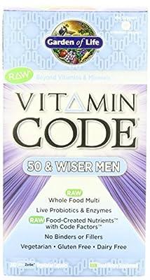 Garden of Life Vitamin Code Raw 50 and Wiser Men's Multivitamin, 480 Capsules