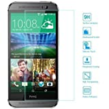 EasyAcc HTC ONE M8 Glas Folie Schutzfolie Panzerfolie Displayschutzfolie f�r HTC ONE M8 Klar Anti-Kratz-Screen Protector Displayschutz Displayfolie - 9H Hardness aus geh�rtetem Glas