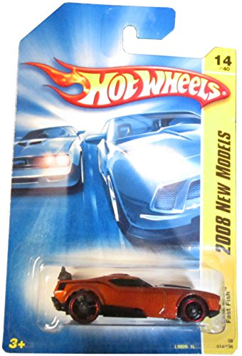 Hot Wheels 2008 014 New Models Fast Fish Dark Orange 2008 14 1:64 Scale - 1