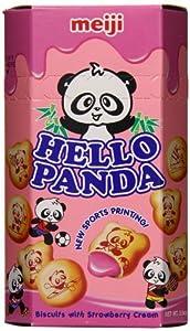Meiji Asian Hello Panda Strawberry, 2-Ounce (Pack of 10)