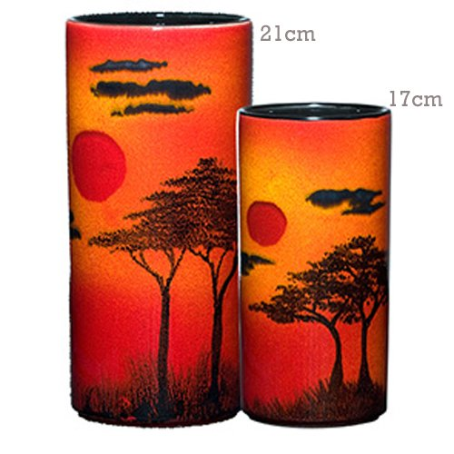 Poole Pottery African Sky Pillar Vase Medium 21cm