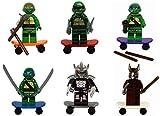 Tmnt Teenage Mutant Ninja Turtle Building Toy 6 Action Mini Figures Set Fits with Lego