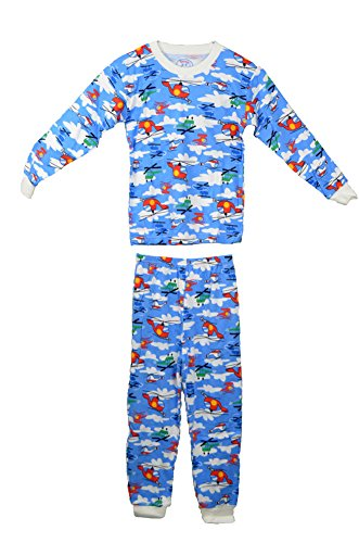 Sara'S Prints Cotton Blend Flame Resistant Helicopter Pajamas front-654838