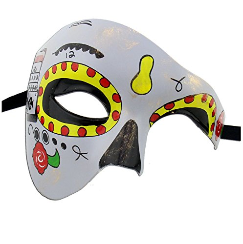 Luxury Mask Women's Day Of The Dead Half Face Phantom Mask Halloween Mardi Gras