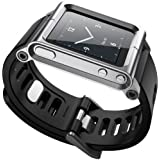 SQdeal® Collection iPod Nano 6th Gen Wrist Strap Watch Band Case,with Adjustable length Function (Sliver bracelet)