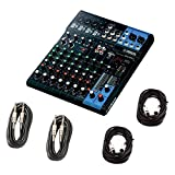 Yamaha MG10XU 10 Input Stereo Mixer (with Compression, Effects, and USB) w/Cables (Tamaño: 6.00 x 16.00 x 15.00 inches)