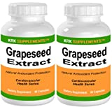 51p4ZHfifDL. SL160  2 BOTTLES Grapeseed Extract 200mg per serving 180 total capsules KRK SUPPLEMENTS