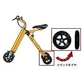 TopMateファッションとスマートミニ電子車スクーター電動三輪車移動折畳みと携帯易い電動自転車 (ゴデン)