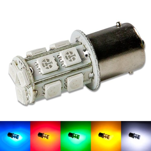 1156 Ba15S 13-Smd 360-Degree Green Led Light Bulb