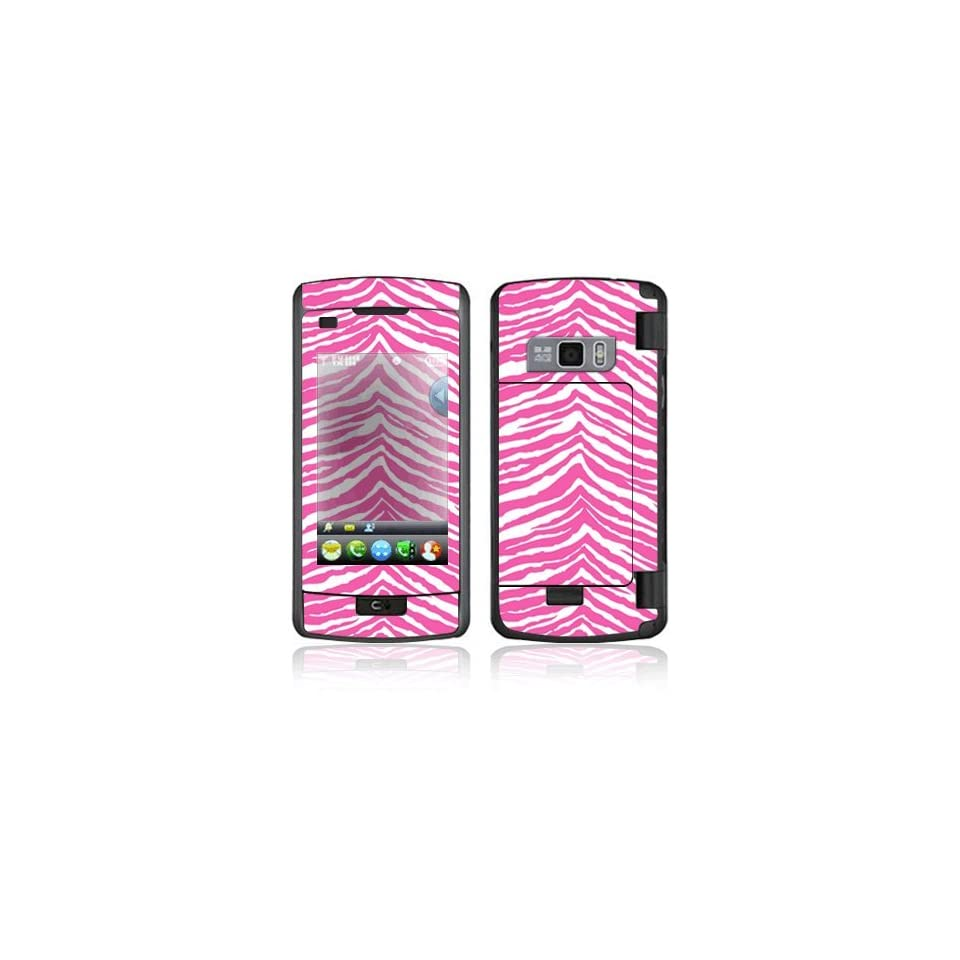 Pink Zebra Decorative Skin Cover Decal Sticker for LG enV Touch VX11000 Cell Phone