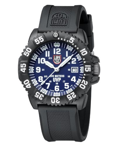 Luminox Evo Navy Seal Colormark Black Dial Black Rubber Strap Mens Watch 3054