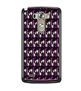 PrintDhaba Glass pattern D-1936 Back Case Cover for LG G3 (Multi-Coloured)