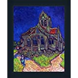 The Church Of Auvers By Van Gogh In Antique Shade - B00O6YDSGE