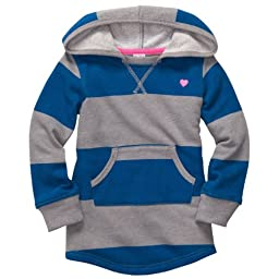 Carter\'s Baby Girls\' Hooded Knit Tunic - Blue Stripe - 12 Months