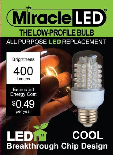 Miracle Led 605006 General Purpose Bulb, Low Profile, 400 Lumen, Medium Base, Daylight White