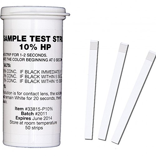Bartovation (TM) Food Grade Time Sensitive Very High Level Hydrogen Peroxide (h2o2) Test Strips, up to 10% Concentration (Vial of 50) (Food Test compare prices)