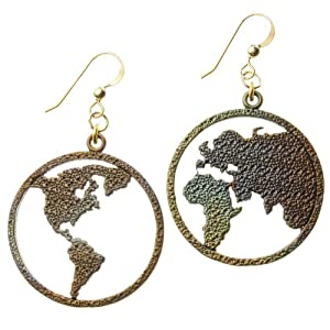 Peace on Earth Iridescent Earrings on French Hooks