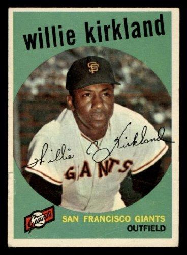 1959 Topps Willie Kirkland San Francisco Giants (Baseball Card) # 484 Dean